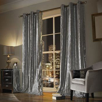 Buy Kylie Minogue at Home Iliana Lined Eyelet Curtains - Praline - 168x229cm | Amara #diycurtains