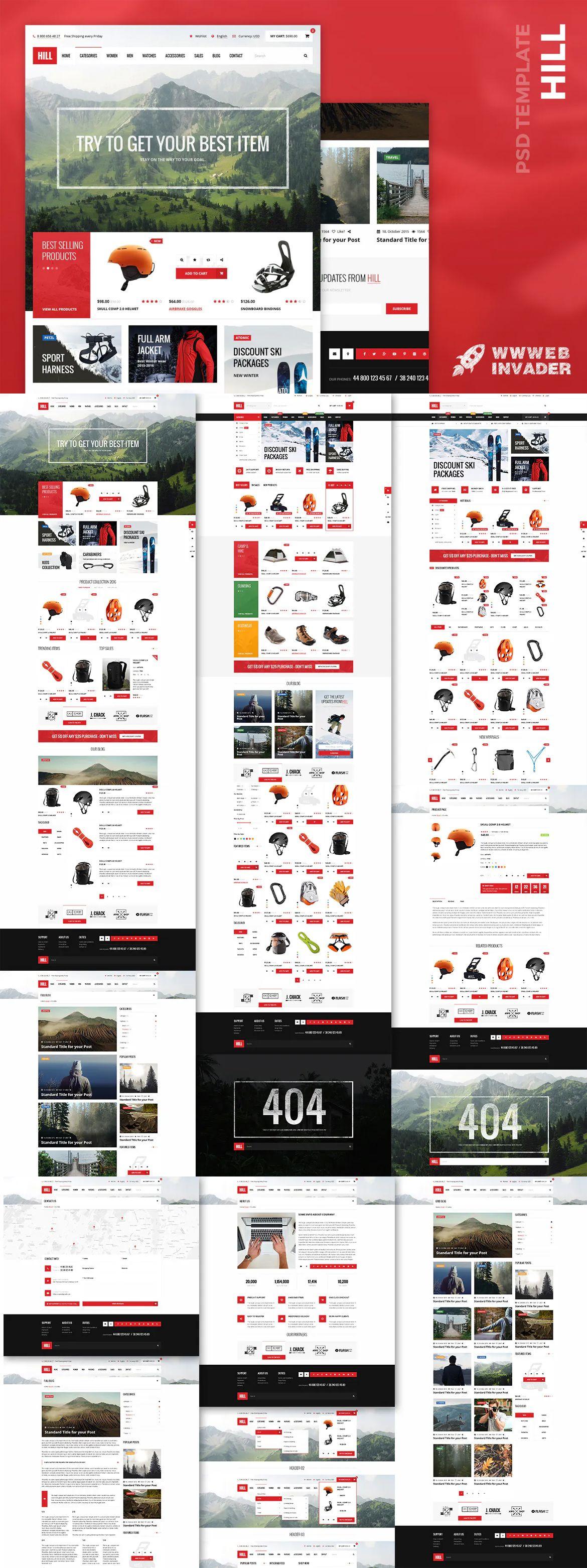 HILL - Premium Bootstrap eCommerce Website PSD Template