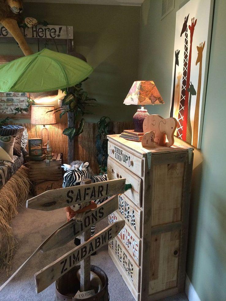Jungle Themed Bedroom - Jungle kamer, Jungle kinderkamer en Kinderkamer