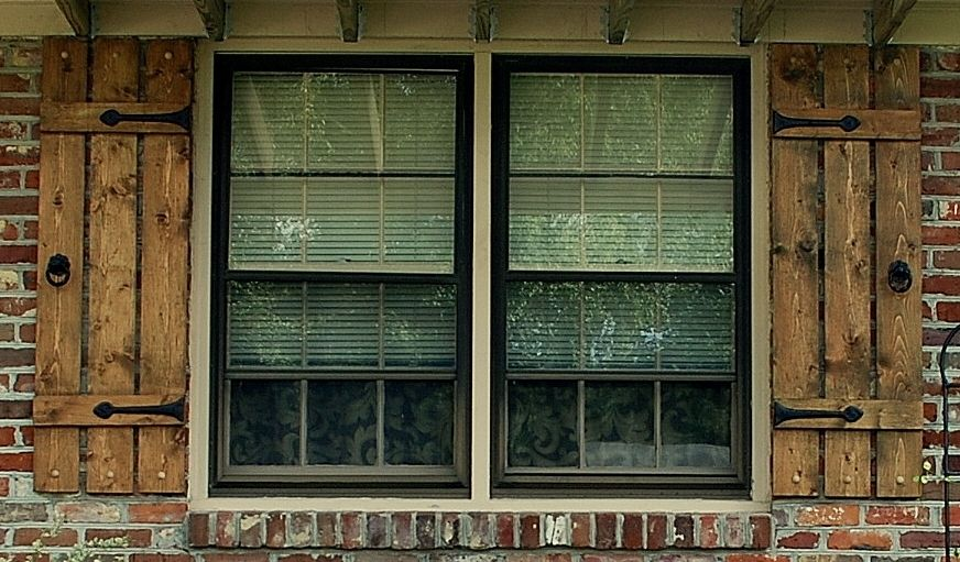Decorative Shutter Hardware Package For One Window 2 Shutters