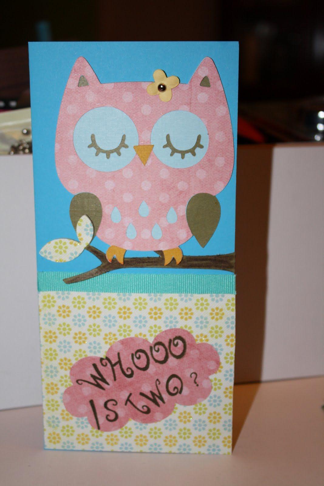 2 year girl birthday theme Crafts Birthday Card for