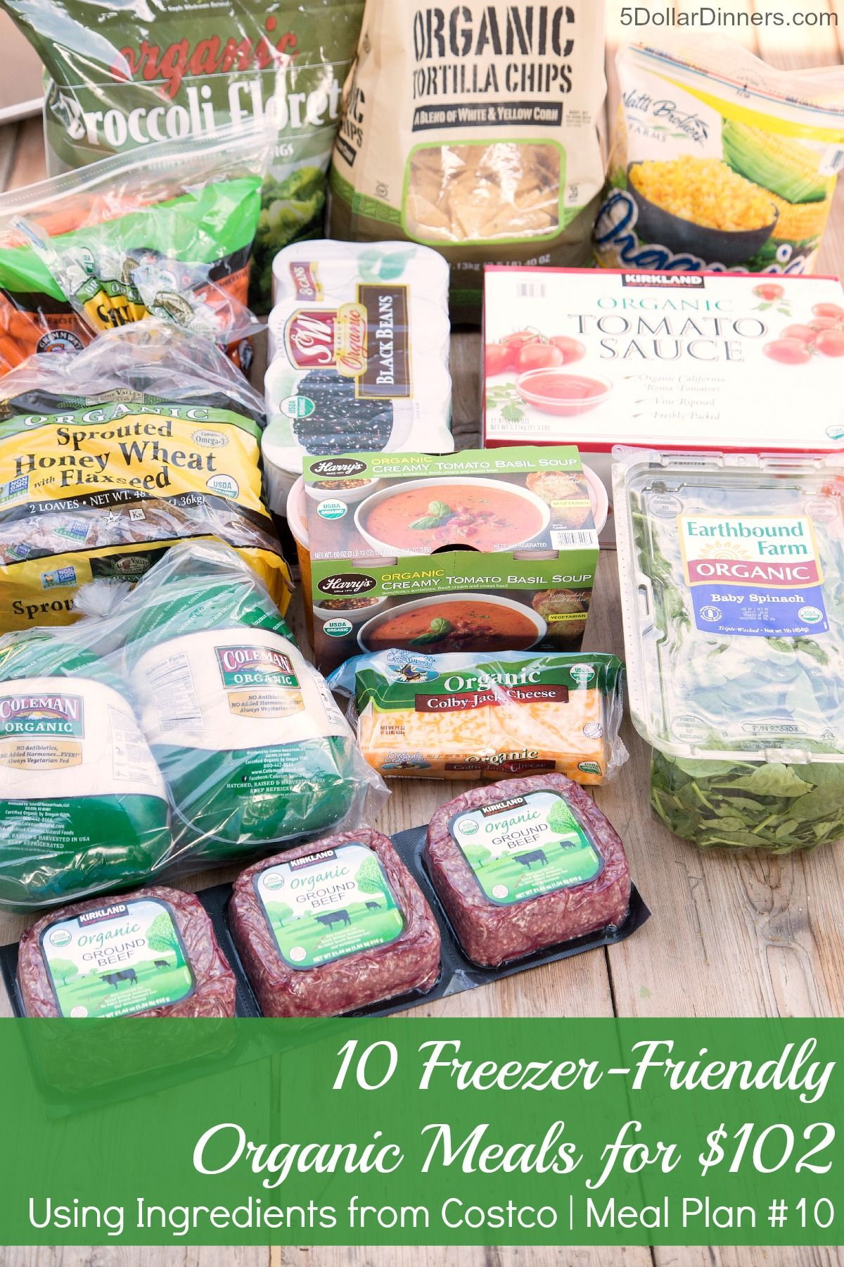 Organics Meal Plan 10 Organic Meals For 100 5 Dinners