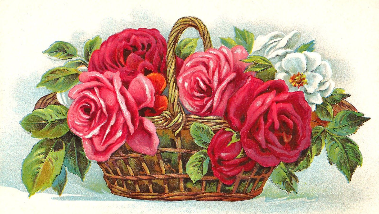 Free rose clip art free red rose clip art flower basket full of free rose clip art free red rose clip art flower basket full of red pink and white izmirmasajfo