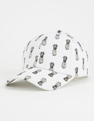 Pineapple Womens Snapback Hat White  691c4d0633