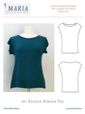 Kimono Tee nähen deutsche Anleitung / Damen T-Shirt mit kostenlosem Schnittmuster   DIY MODE