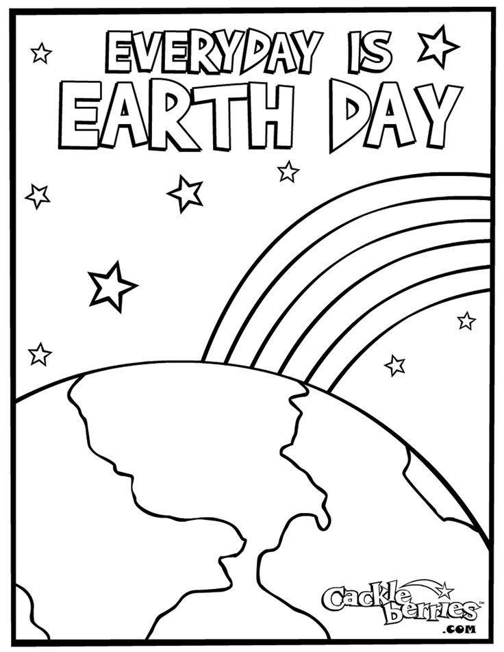 2017 Earth Day Coloring Sheets