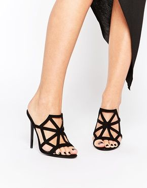 Buy Women Shoes / Asos Heirdom Halloween Cobweb Heeled Mules