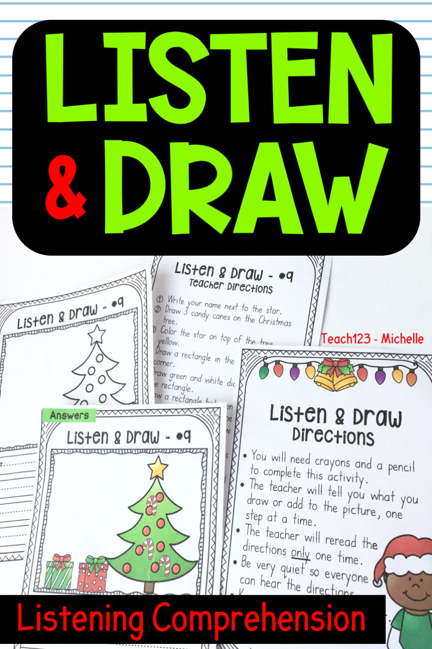 Listen Draw Fun Lesson Plans School Counseling Lessons Comprehension Activities
