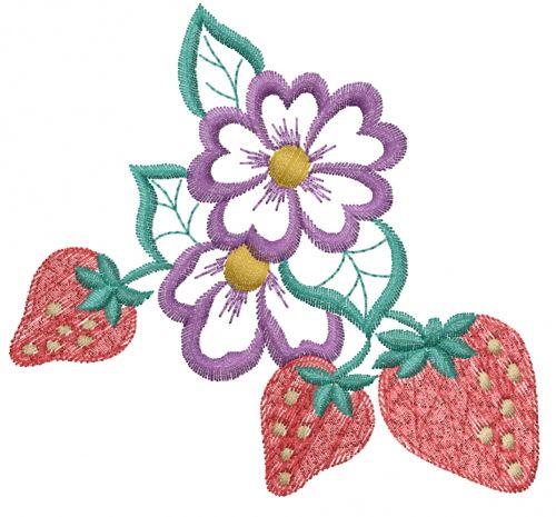 Free Strawberry Flower Embroidery Design Annthegran Free