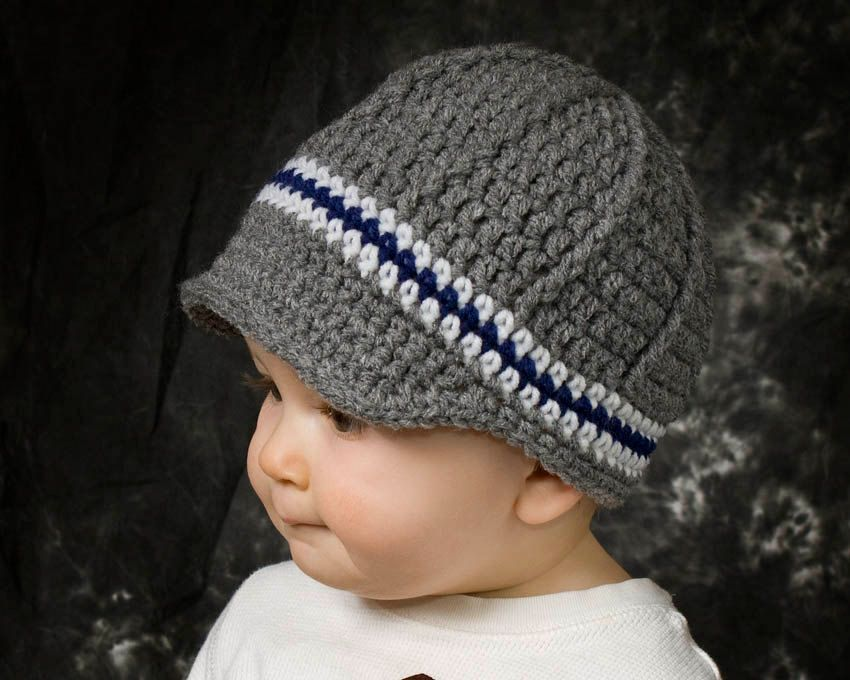 Boys newsboy hat crochet boys beanie toddler boy by ktandthesquid ...
