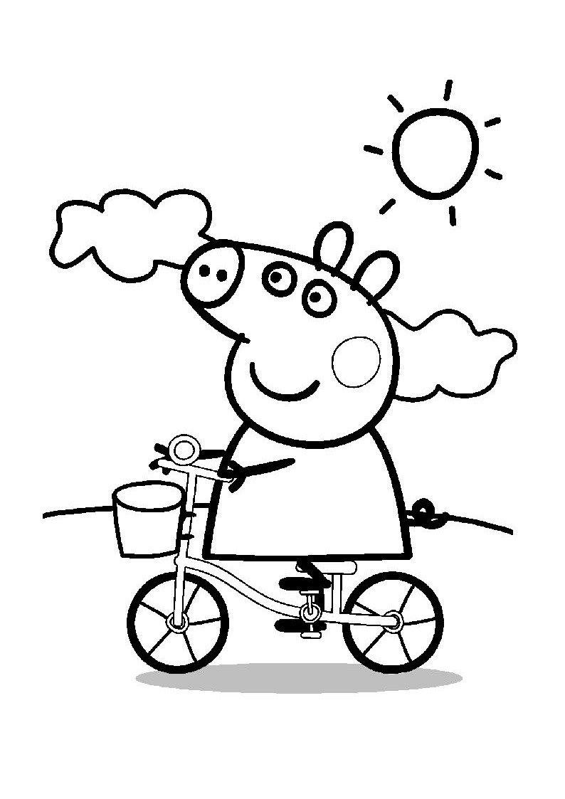 Perfect Dibujos Para Colorear De Peppa Pig, Una Selección De Dibujos Para Colorear  Y Pintar De