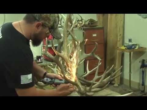 Antler Lamp DIY - YouTube