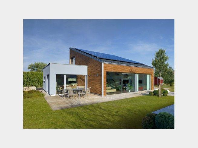 Bungalow ederer einfamilienhaus von baufritz hausxxl for Bungalow haus modern