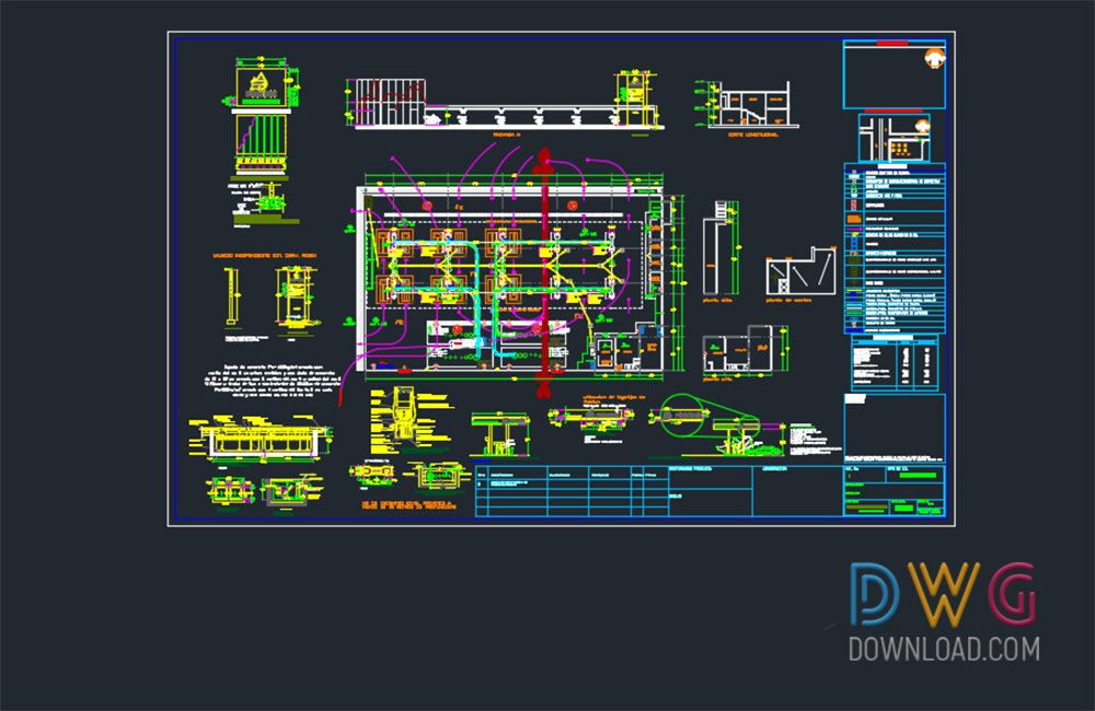 Dwg download gas station dwg project architectural for Simboli gas dwg
