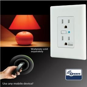 Ge Z Wave Wireless Lighting Control Duplex Receptacle