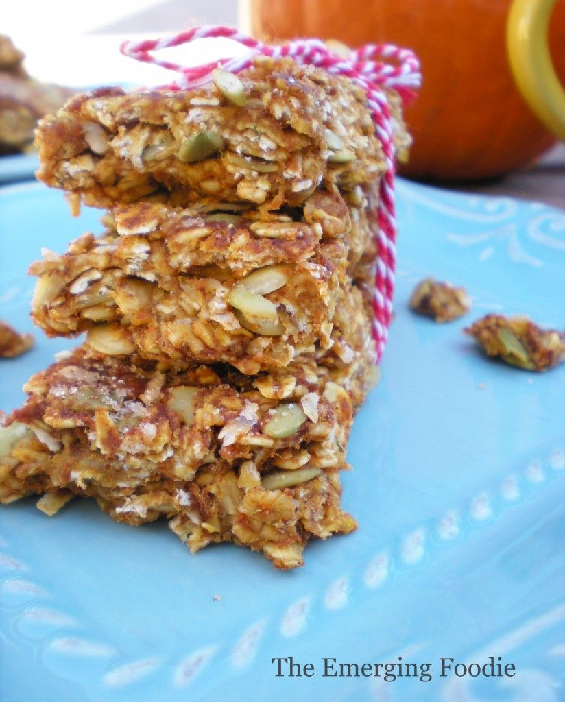 The Emerging Foodie - Pumpkin Spice Latte Granola Bars