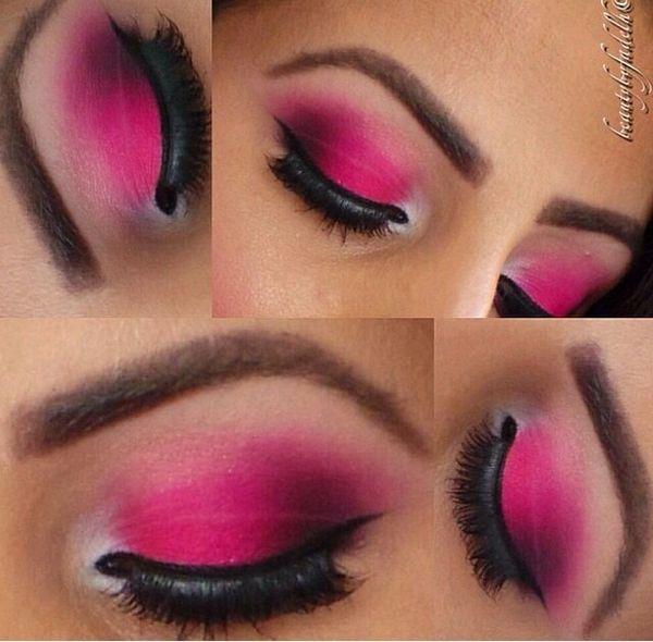 Hot Pink Eye Shadow.