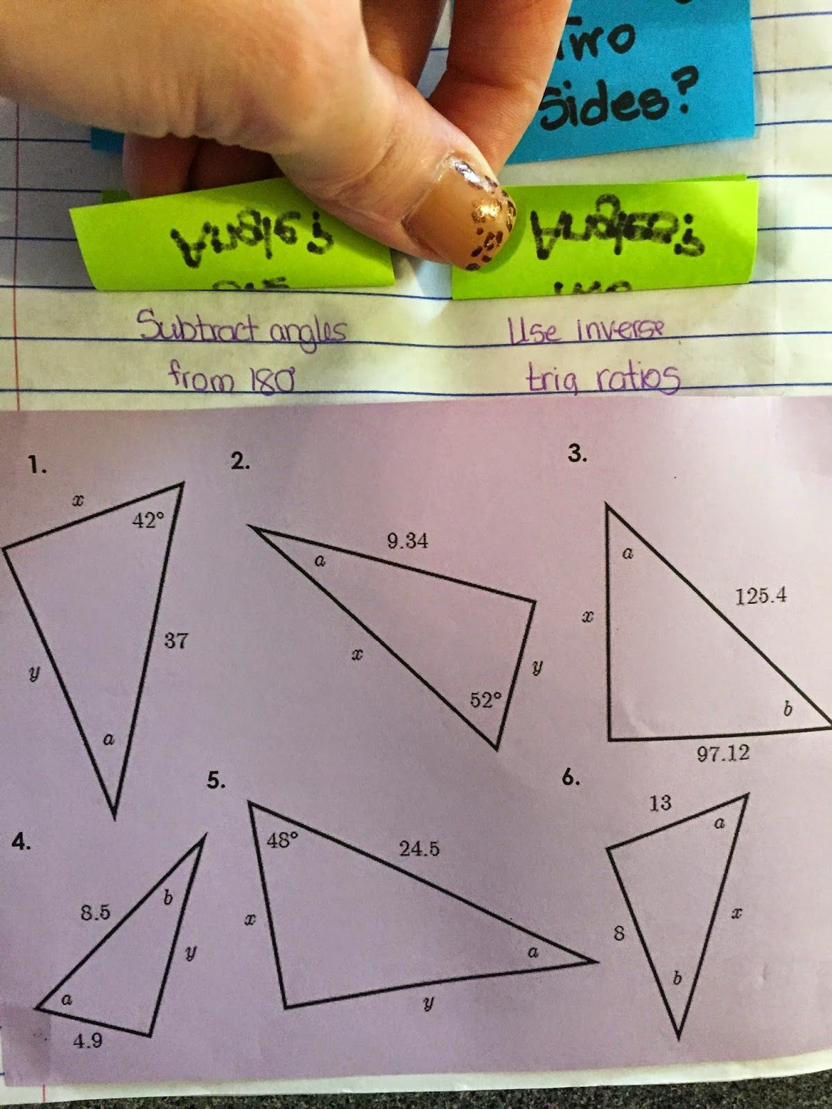 Page 23 24 Introduced The Trig Ratios Used In Right Triangle Trig The Triangle Manipulative Was Made With Tra Interactive Notebooks Right Triangle Interactive