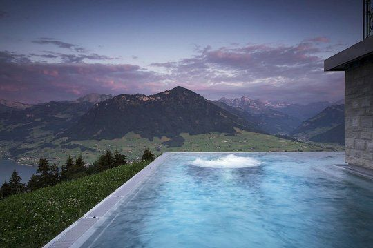 Best Hotel In Switzerland With Infinity Pool 10 More Totally Breathtaking Hotel Pools Hotel Villa Honegg Villa Honegg Hotel Villa Honegg Switzerland