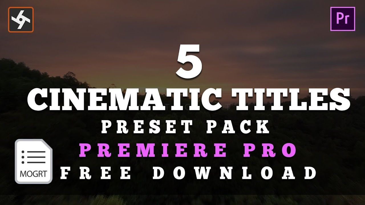 5 Cinematic Titles Preset Pack for Adobe Premiere Pro