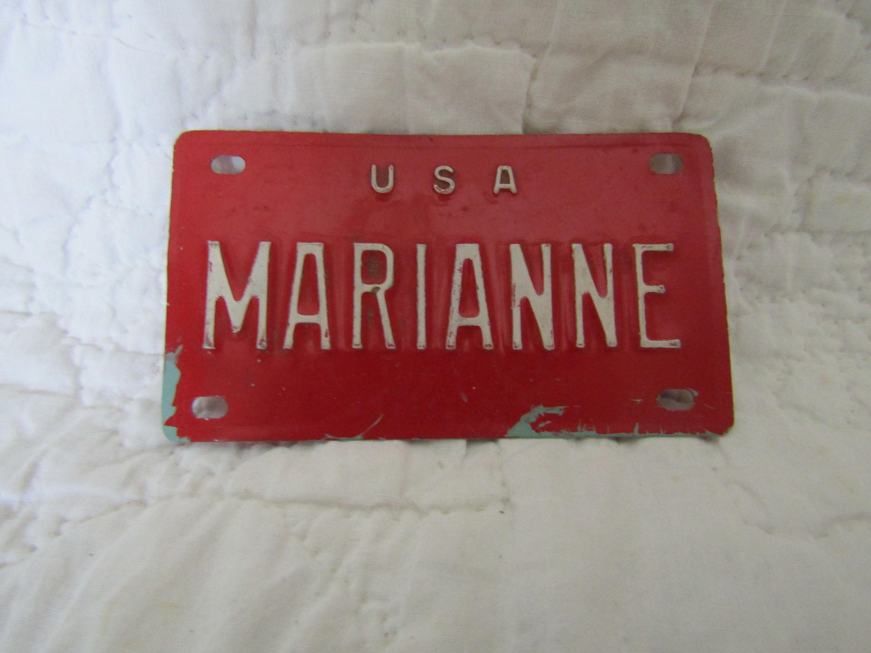 Vintage Bike Name Plate Marianne | Vintage finds 4U | Bike