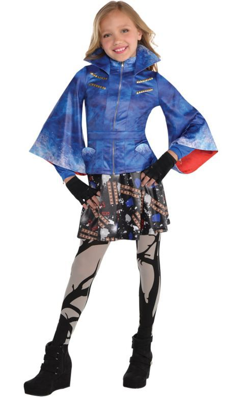 Evie Isle of the Lost Disney Descendants Fancy Dress Up Halloween Child Costume