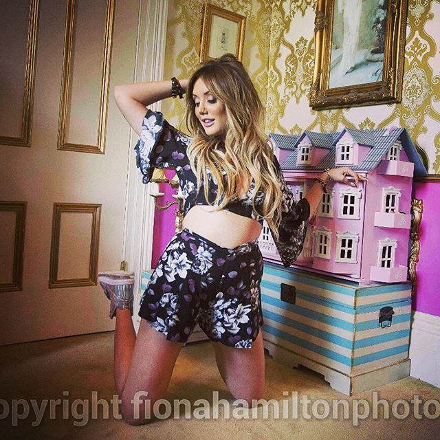 Tiger Mist fashion shoot for Daily Mail today #melbourne #tigermist #geordieshore #fashion #realitytvstar #charlottecrosby #dailymail #playsuit #dollshouse