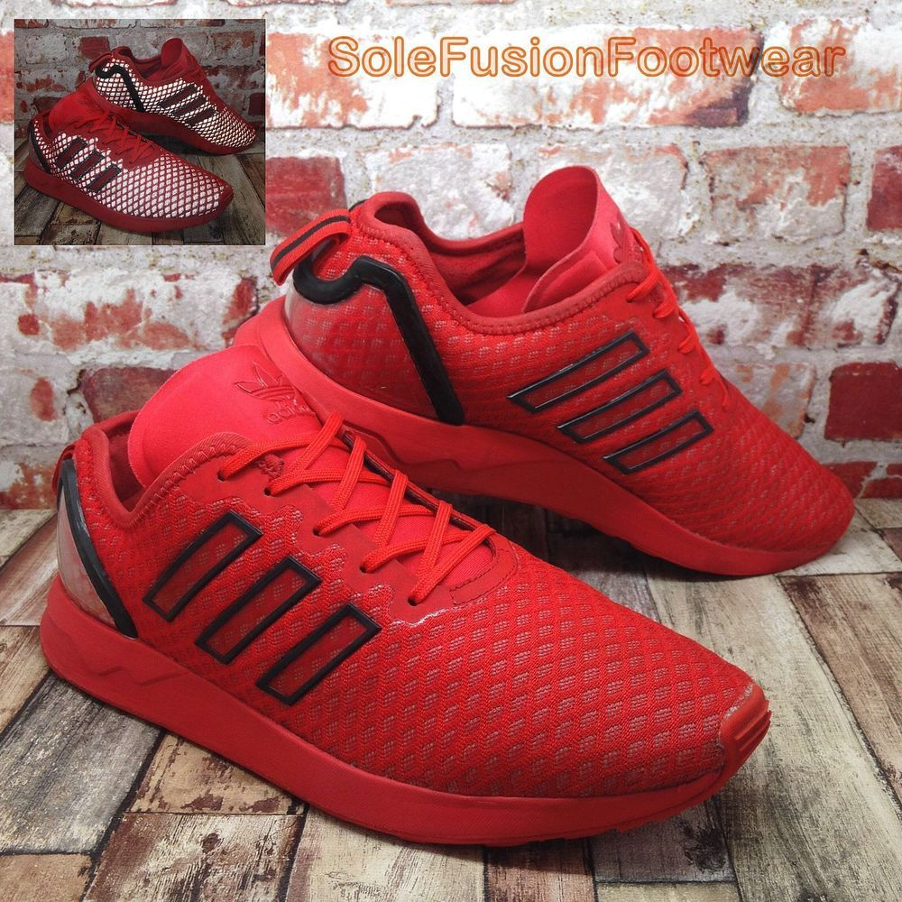 c34bf0f115a70 adidas Mens ZX Flux ADV Trainers Red size 9 Reflective Sneakers US 9.5 EU  43 1