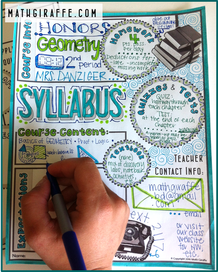 Syllabus For Math Class Doodle  Style Free Printable Math