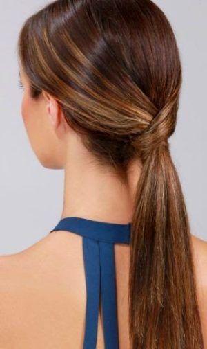 peinados-faciles-paso-paso-coleta-a Cabello y belleza Pinterest
