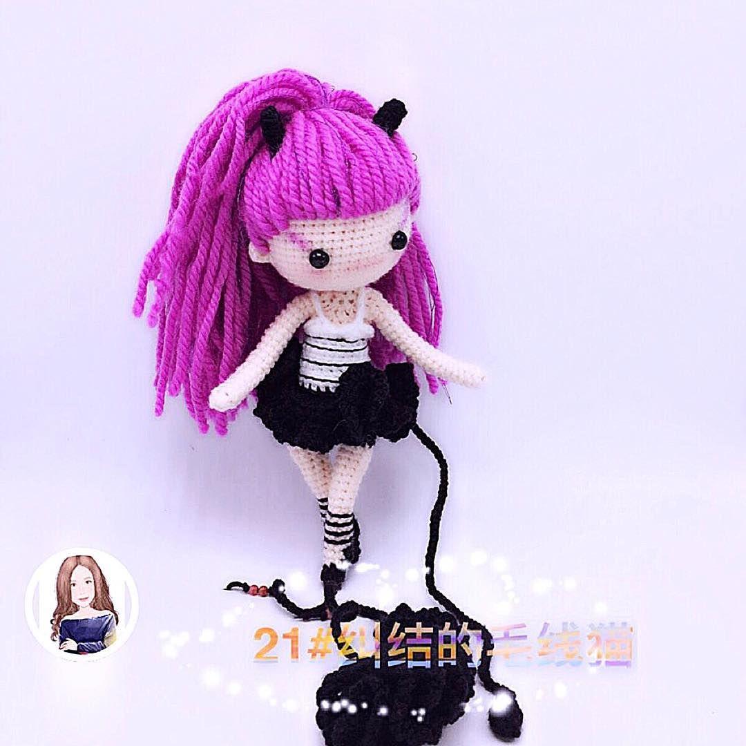 Weibo crochet activity 依然 Pattern by: 醉夢櫻花Bella | Muñeca ... | 1080x1080