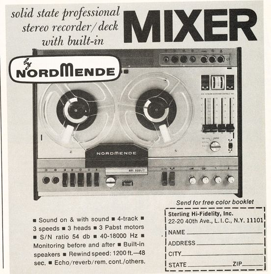 1968 Ad For Nordmende Recording Equipment In Reel2reeltexas Com S