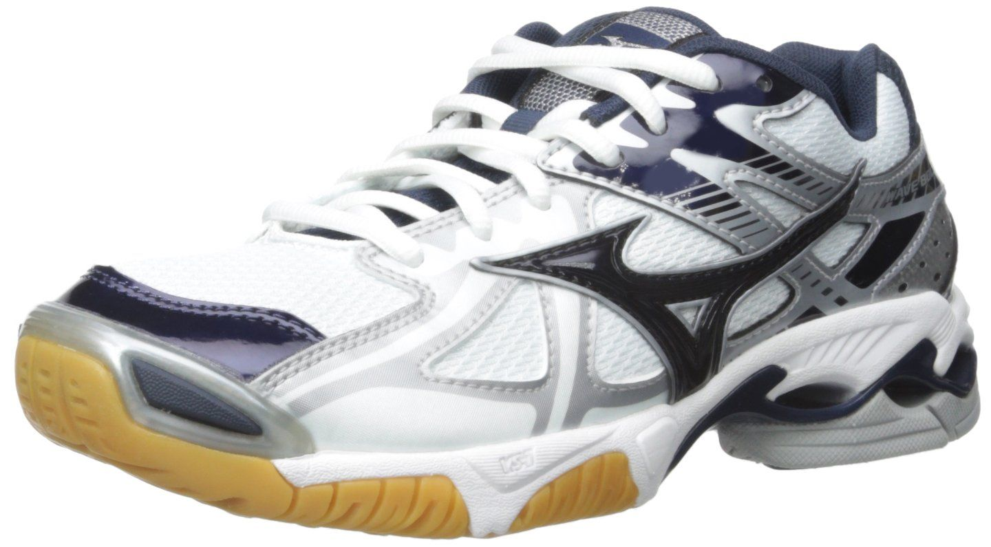 Mizuno Women S Wave Bolt 4 Wh Ny Volleyball Shoe White Navy 10 D Us Parallel Mizuno Wave Construction Uniformly Womens Athletic Shoes Volleyball Shoes Shoes