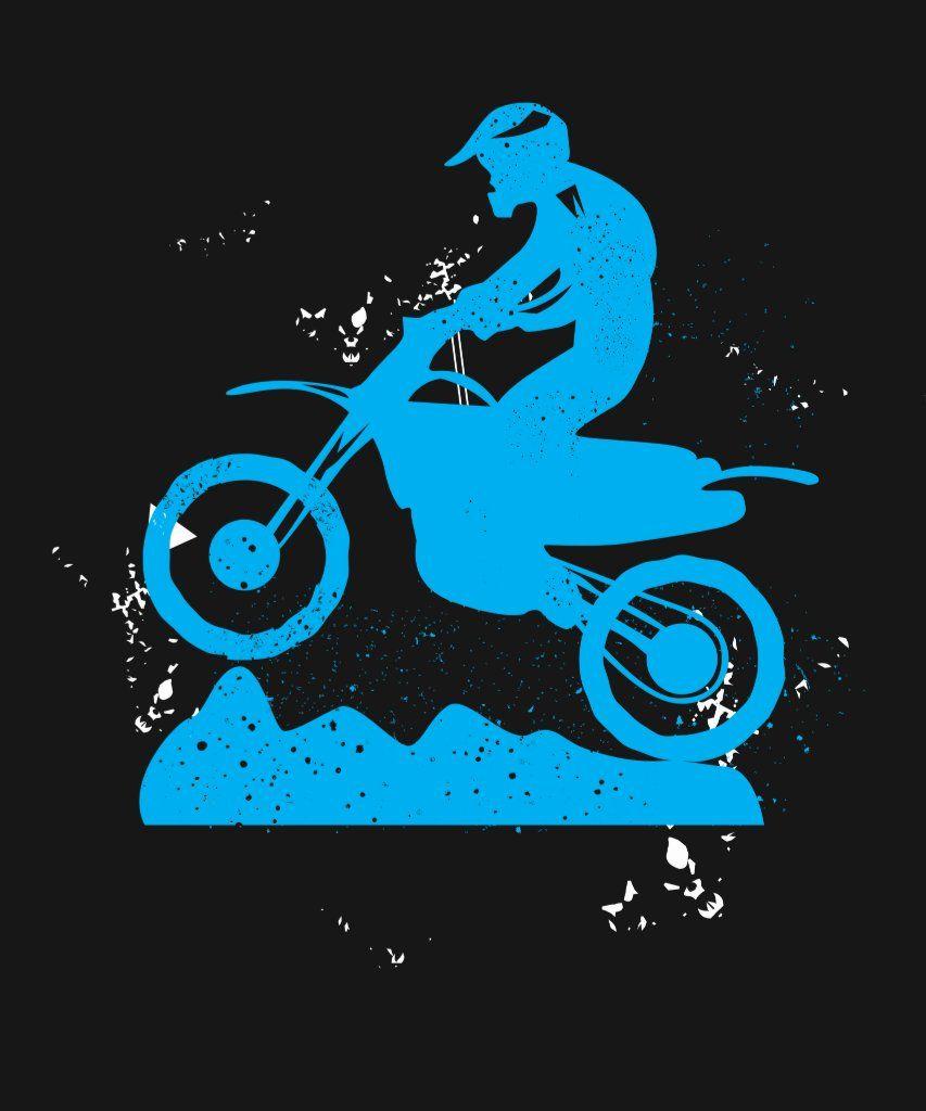 Dirt bike rider tire tracks motorcycle tshirt zazzle