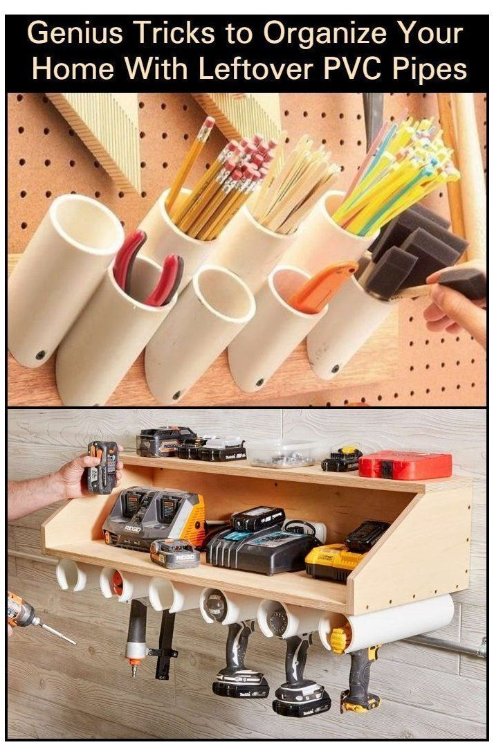 Genius tricks to organize your home with leftover PVC pipes,  #gardengarageideas...#gardengarageideas #ge Genius tricks to organize your home with leftover PVC pipes,  #gardengarageideas...#gardengarageideas #genius #home #leftover #organize #pipes #pvc #tricks
