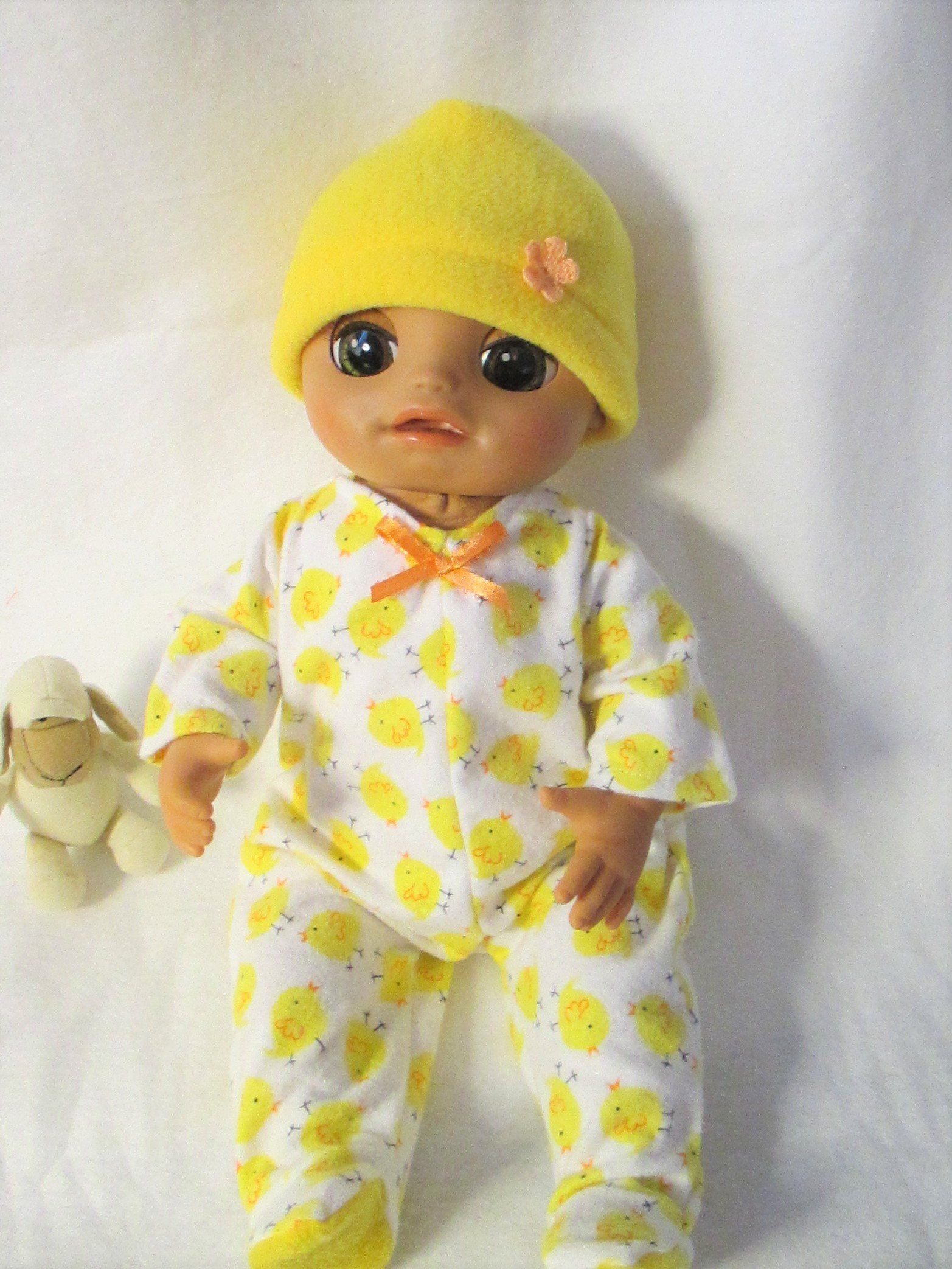 Doll clothes-fits Baby Alive Doll Girl//Boy-Footsie Pajamas-Flannel-Dog House