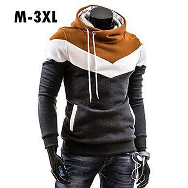 e2618fbaa600 14.95  Men s Plus Size Sports Active Long Sleeve Slim Hoodie - Color ...