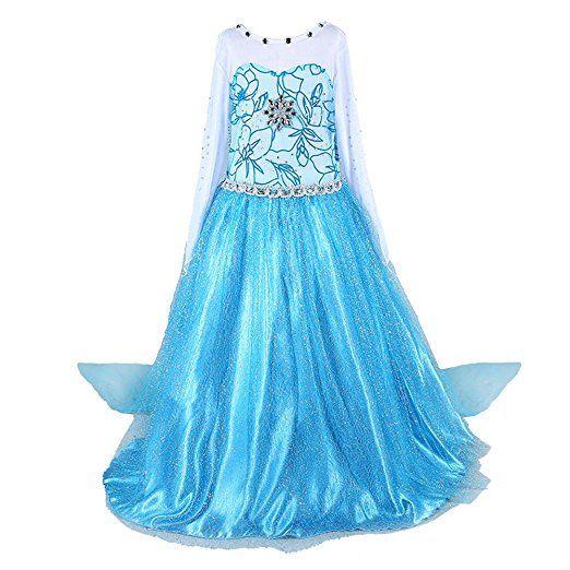 Glanz Kostüm Mädchen Weihnachten Verkleidung Kleid Kinder Prinzessin PXTkiOuZ