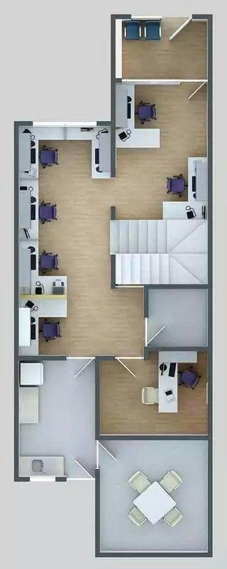 Plano 3d oficinas planos 3d pinterest planos 3d for Planos de oficinas