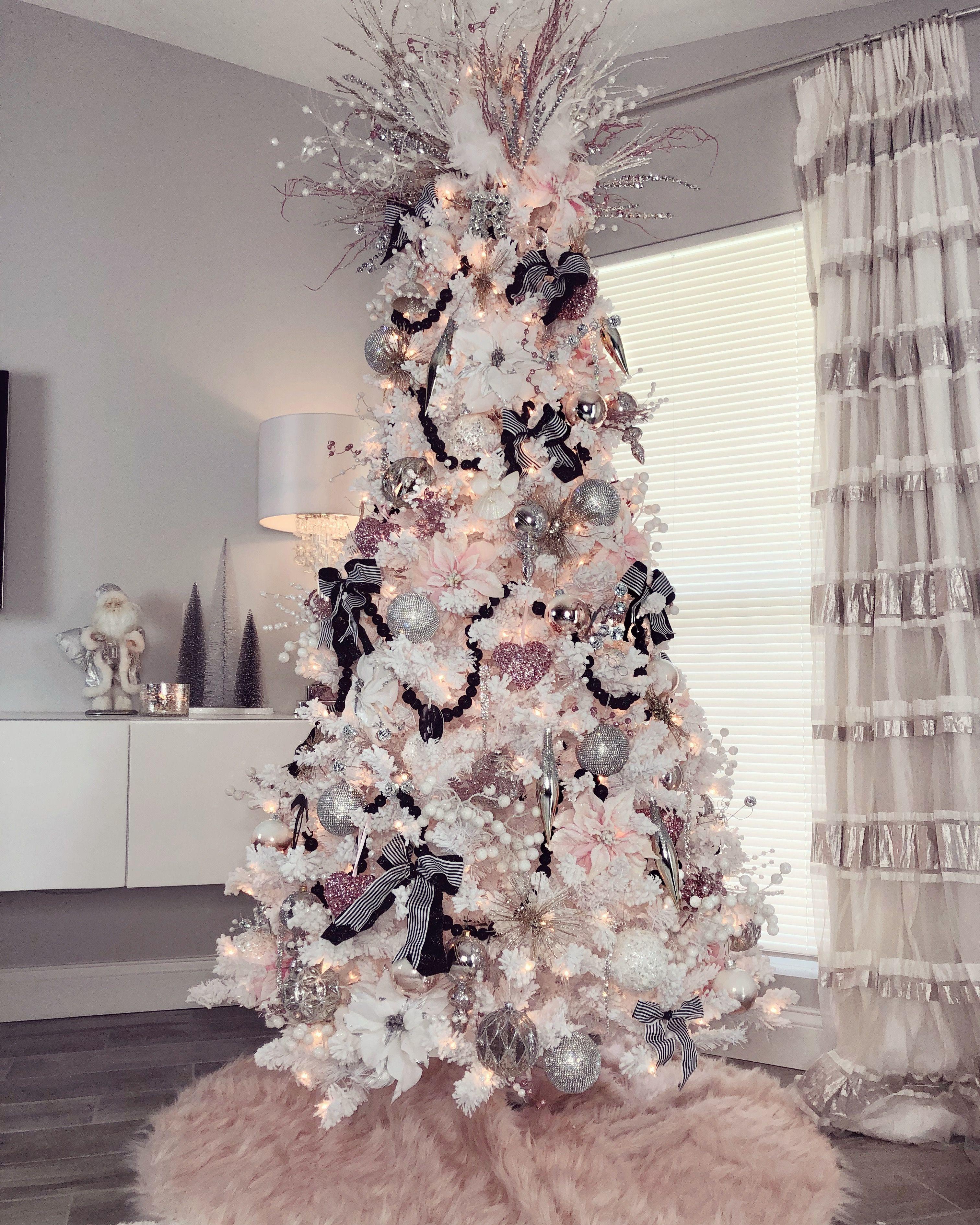 Pink And White Christmas Tree: My Glam Christmas Tree Decor