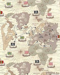 Timeless Treasures Viking Travel Map Pavillion Life Pinterest