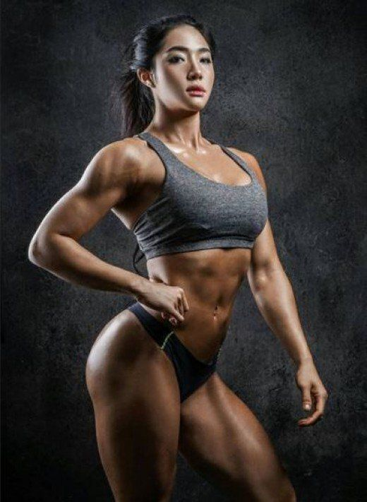 fitness model nude Korean