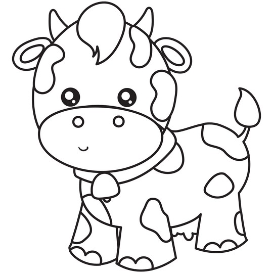 12 Cow Coloring Pages Outlines Best Cute Cow Scenes Cow Coloring Pages Hello Kitty Colouring Pages Cute Coloring Pages