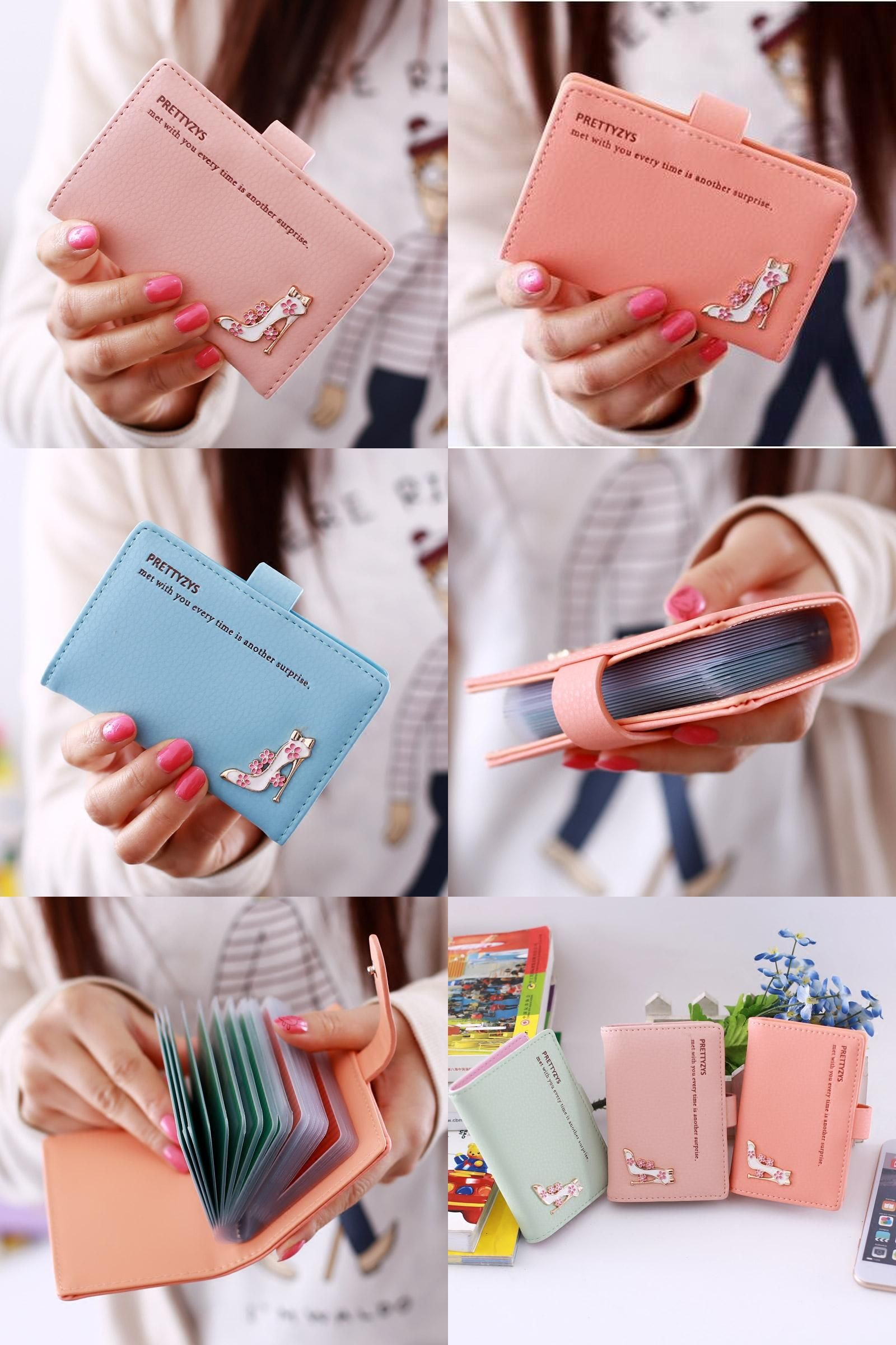 Visit to Buy] NEW Casual Credit Card Holder Women Business Porte