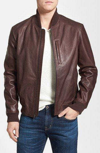 5851450e1 Pin by Lookastic on Men's Leather Jackets in 2019 | Brown leather ...
