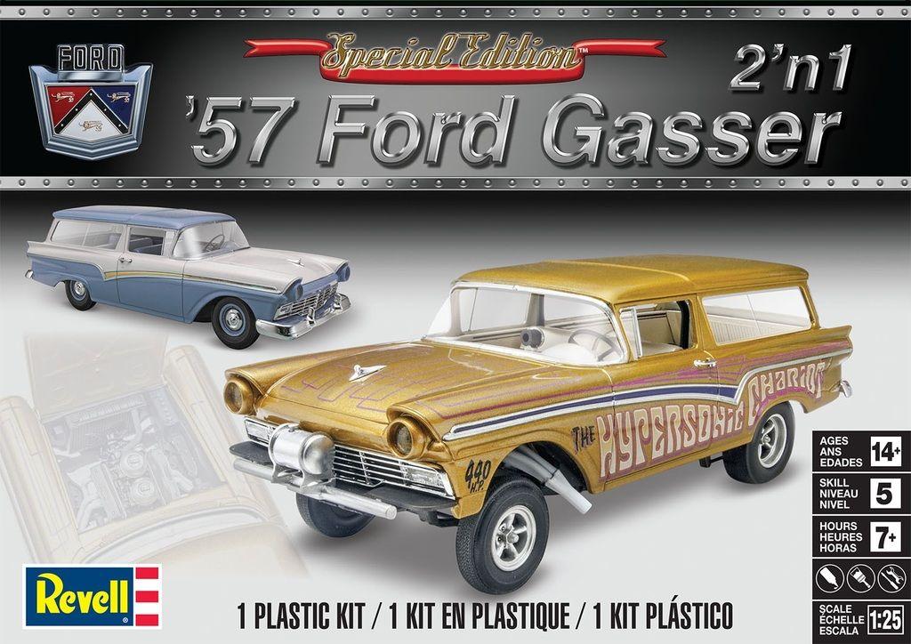 Revell 57 Ford Gasser Plastic model kits cars, Plastic