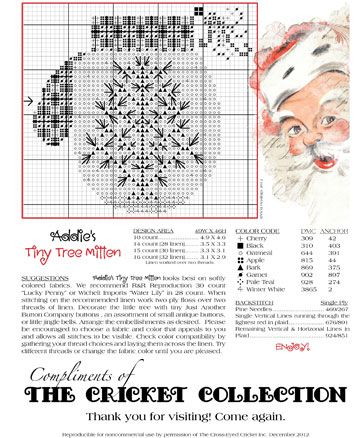 The Cricket Collection Our Gift To You Winter Cross Stitch Cross Stitch Cross Stitch Christmas Ornaments