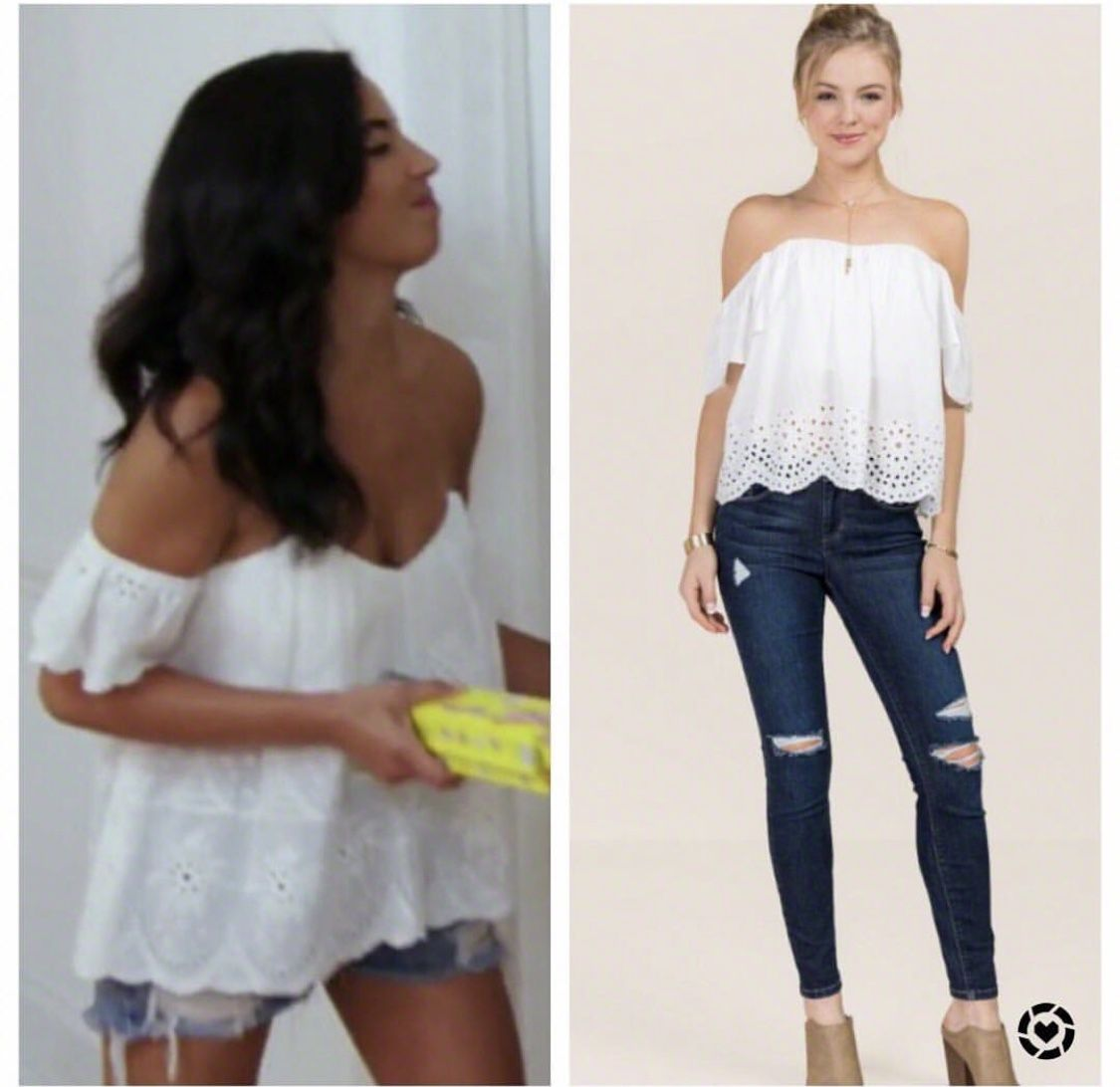 dbcc618af29782 Danielle Olivera s White Off the Shoulder Top In Summer House https   www.