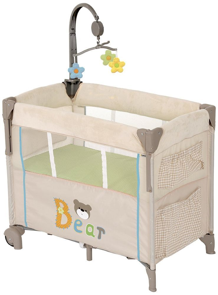 Baby Travel Playpen Infant Folding Cot Bed Crib Pockets Clip Mobile Mattress Sle Travel Cot Cots For Sale Crib For Sale