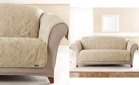 Sure Fit Matelasse Damask Pet Slipcover Throw Collection Furniture